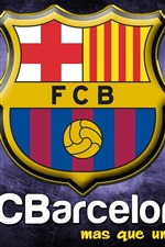 Preview iPhone wallpaper FC Barcelona logo