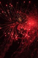 Fogos de artifício, faíscas, céu bonito, noite