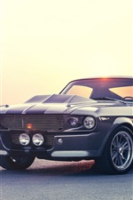 Preview iPhone wallpaper Ford Mustang classic car, road, river