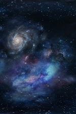 iPhone обои Галактика, вселенная, космос, звездный