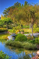 Preview iPhone wallpaper Garden, park, trees, lake, China