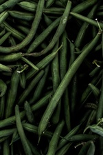 Preview iPhone wallpaper Green beans, vegetables, darkness