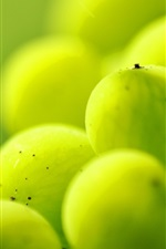 Preview iPhone wallpaper Green berries, fruit, macro photography