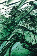 Preview iPhone wallpaper Green liquid, blisters, glass splinters