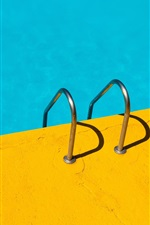 iPhone fondos de pantalla Pasamanos, piscina, azul y amarillo