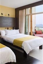 Hotel, room, bed, balcony