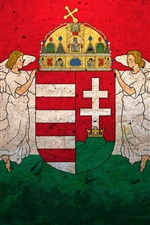 Preview iPhone wallpaper Hungary flag, texture background