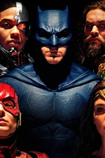 Preview iPhone wallpaper Justice League, superheroes, 2017 movie