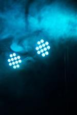Luz LED, fumaça, escuridão