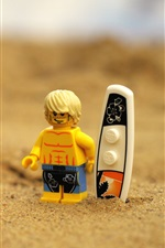 Preview iPhone wallpaper Lego toy, beach