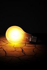 Preview iPhone wallpaper Light bulb, dark, ground, crack