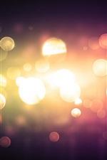 Light circles, glare, night