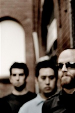 Preview iPhone wallpaper Linkin Park rock band HD