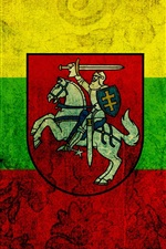 Preview iPhone wallpaper Lithuania flag, texture