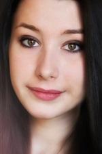 Lovely Asian girl, face, long hair