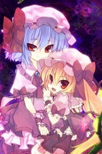 Preview iPhone wallpaper Lovely two anime girls