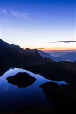Preview iPhone wallpaper Mountains, lake, morning, sunrise, nature landscape