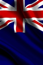 Preview iPhone wallpaper New Zealand flag