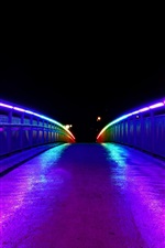 Preview iPhone wallpaper Night, bridge, lights, illumination