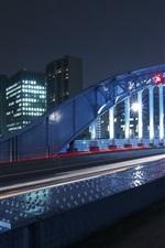 Night, city, bridge, illumination
