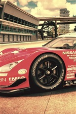 Preview iPhone wallpaper Nissan race car side view