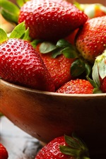 Preview iPhone wallpaper One bowl of strawberry, fresh fruit