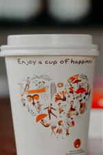 Preview iPhone wallpaper Paper cup, coffee
