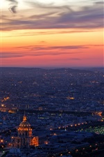 Preview iPhone wallpaper Paris, top view, night, France