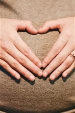 Preview iPhone wallpaper Pregnancy, love heart, motherhood