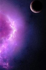 Aperçu iPhone fond d'écranNébuleuse pourpre et planètes
