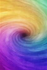 Preview iPhone wallpaper Rainbow spiral