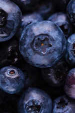 Preview iPhone wallpaper Ripe blueberries, fruit macro photography