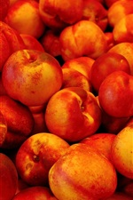 Preview iPhone wallpaper Ripe peaches, delicious fruit