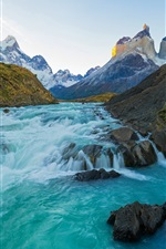 Preview iPhone wallpaper River, mountains, Chile landscape
