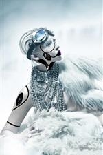 Preview iPhone wallpaper Robot girl, creative design