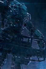 Robots, fantasy art, soldiers