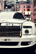 Rolls Royce fantasma branco carro frente vista