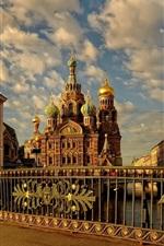Preview iPhone wallpaper Russia St Petersburg, street, city, buildings