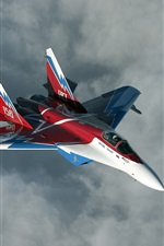 Preview iPhone wallpaper Russian Mig-29M fighter flight