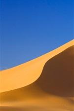 iPhone fondos de pantalla Desierto del Sahara, colina de arena, cielo azul