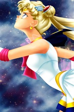 Preview iPhone wallpaper Sailor Moon, blonde anime girl