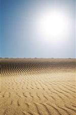 Preview iPhone wallpaper Sand, sun, desert