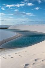 iPhone fondos de pantalla Arenas, colina, lago, desierto