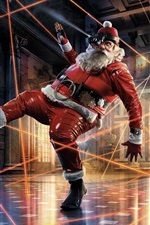 Preview iPhone wallpaper Santa Claus, locking, hall, art picture