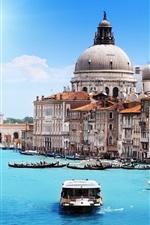 Preview iPhone wallpaper Santa Maria della Salute, Venice, Italy, river