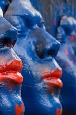 Vorschau des iPhone Hintergrundbilder Skulptur, Gesicht, gemalt