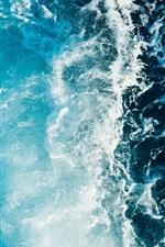 Sea, waves, foam, top view