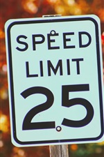 Preview iPhone wallpaper Sign of speed limit