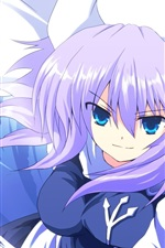 Smile anime girl, blue eyes