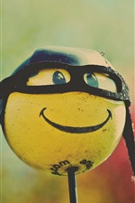 Preview iPhone wallpaper Smile ball, glasses, humor